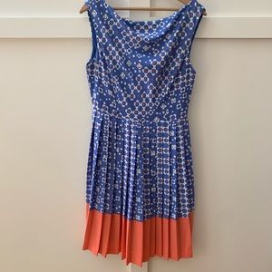 anthropologie pleated dress